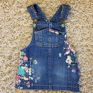Gymboree denim overall skirt